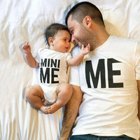 1pcs ME&MINI ME Daddy T Shirt and Baby Cotton Romper Family Matching Outfit Dad Kids Baby Funny Short Sleeve T-shirt Outfit