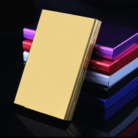 Hot Smoking Cigarettes Aluminum Cigarette Case Tobacco Case Cigar Holder Pocket Box Storage Container Gift Box For Man/ Women