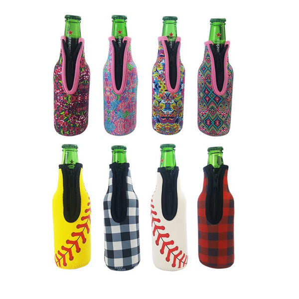 1Pcs 330ML Bottle Holder Neoprene Protection Sleeve Can Beer Drink Chilled Family Gathering Facile Usare Father Gift