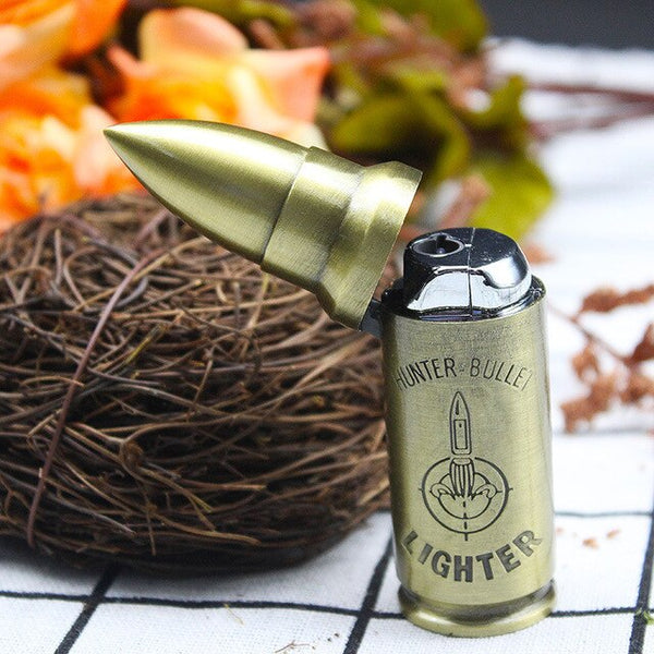 New Creative metal bullet lighter Inflatable Military Windproof lighter high quality Man customization gift Cigarette lighter