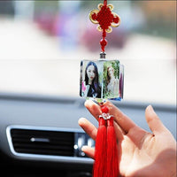 Car Pendant Creative Photo Frame Auto Ornaments Interior Rear View Mirror Decoration Love Family Girl Boy Friends Photos Gifts