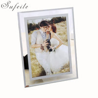 SUFEILE Picture Frame crystal clear glass photo frame Pendulum photo size 5 inch & 7 inch & 10 inch W3D20