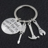 Fashion Keyring Gifts Engraved Drive Safe  for Dad Car Keychain Metal Key Rings  Women Men Friend DIY Key Chain Pendant Jewelry