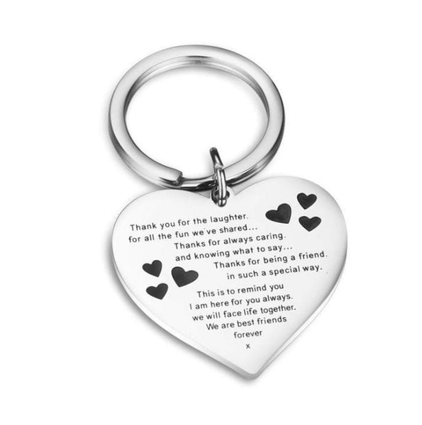 luxury Custom Keyring Engraved  Key Ring Couple Stainless Steel Best Friends Keychain for Women Men Dad Mom Gift Family Jewelry