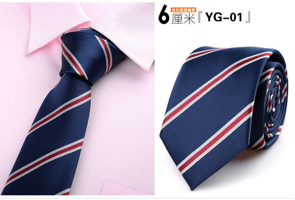 6cm ties for men skinny tie Wedding dress necktie fashion plaid cravate business gravatas para homens slim shirt accessories lot
