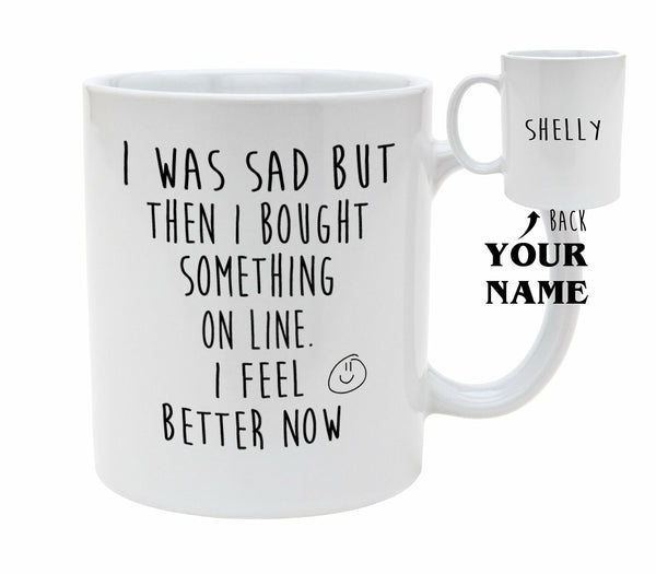 On Line Shopper Mug Personalised Birthday Gift Christmas Gift Gift For Him Gift