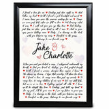 Personalised Anniversary Gift Wedding Valentines day Birthday For Him her Print