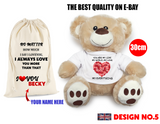 Personalised Teddy Bear Birthday Gifts for Him for Her Love You Any occasion