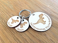 Personalised Fathers Day Gifts For Him Daddy Grandad Papa Dad Dino Keyring Gifts