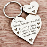 Husband Gifts Heart Key-Ring Anniversary Birthday I Love You Present For Him K56