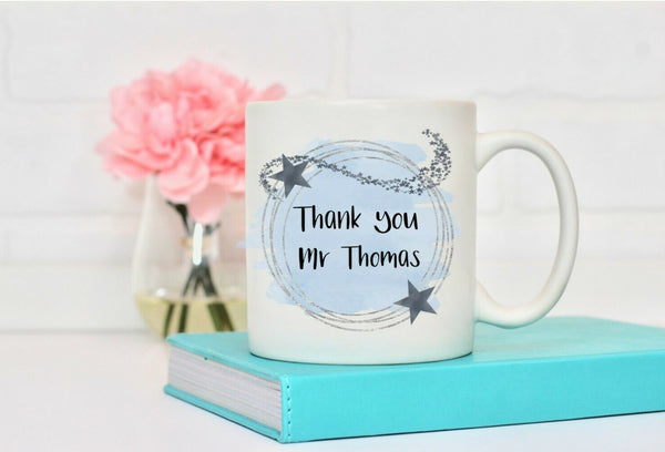 Personalised Mug For Him, Male Teacher Gift, Work Colleague Leaving, Thank You