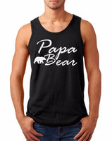 Tank Top Papa Bear #3 Present for Him Birthday Shirt Dad Daddy Fathers Day Gift