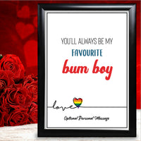 Anniversary Gifts Personalised Funny Rude Card For Him Boyfriend Husband Joke