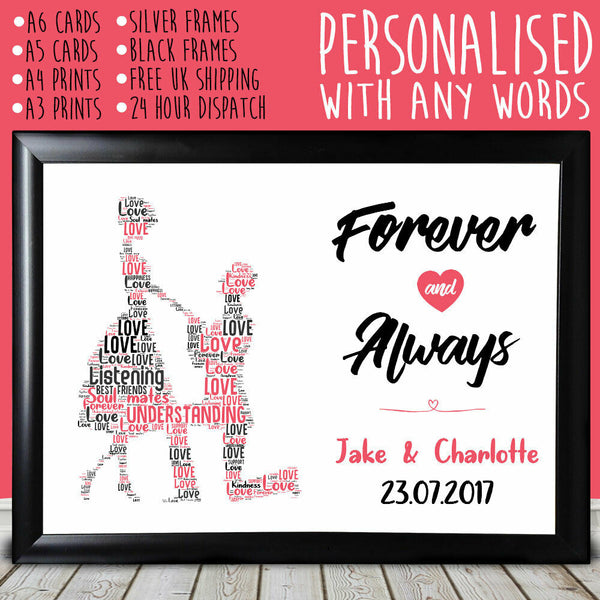 Personalised Proposing Special Anniversary Gift For Him Her Keepsake 1st