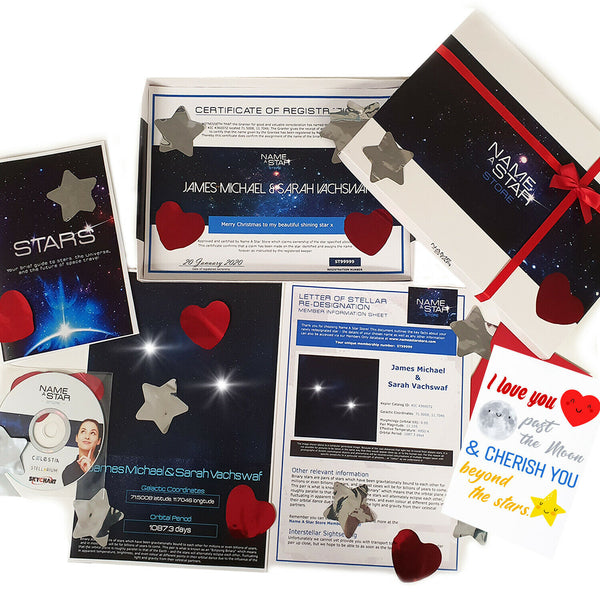 Personalised Husband Gifts For Him Her Anniversary Name A Star Set Couples Wife