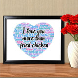 Funny Word Art Personalised For Him Her Cheeky Anniversary Card Chicken Joke