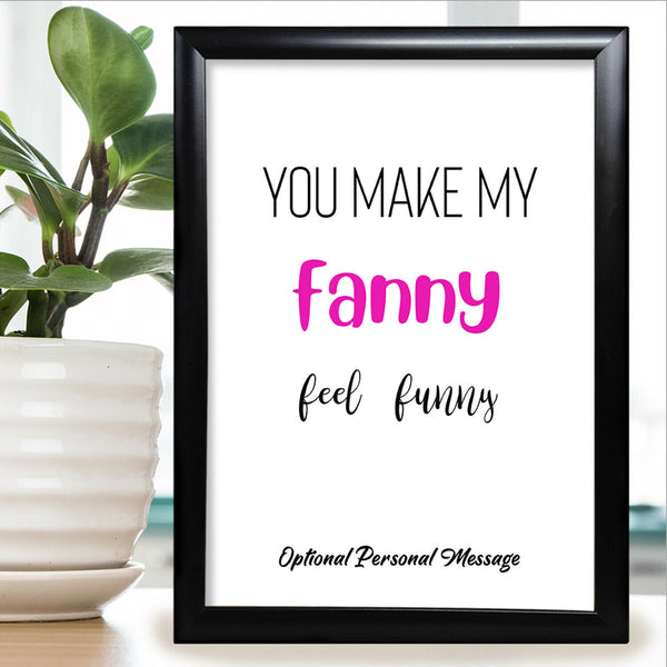 Personalised Anniversary Card For Him Boyfriend Husband Rude Adult Funny Gift