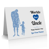 Uncle Card Personalised Word Art For Him Thank You Keepsake Gifts Print Birthday