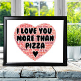 Personalised Pizza Word Art Cheeky Joke Funny Love You Gifts For Him Her Card