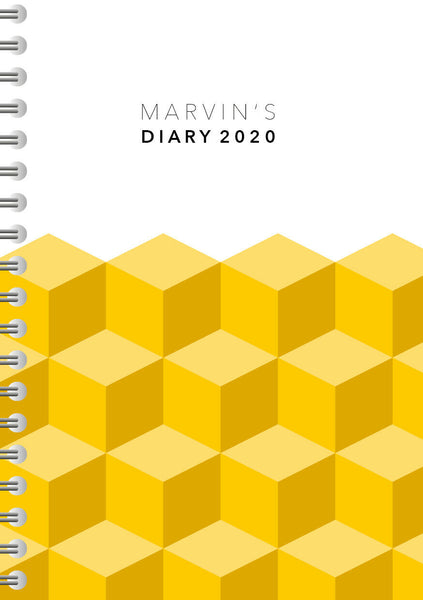 A4 Size Personalised 2020 Diary, Gifts for Him, Diary for Men,Present Design 286