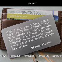 Wedding Anniversary Couple Keepsake Wallet Card Gifts Presents for Him Her W16