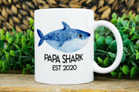 Papa Shark Mug Personalized Gift For Him Custom Papa Mugs Fathers Day Gift Mug