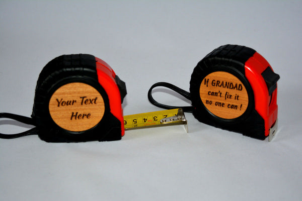 Fathers day Birthday Present For Him Personalised Tape Measure Dad Grandad gift