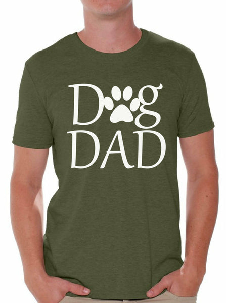 Dog Dad T shirt Tops Pet Lover Father`s Day Gift Dog Lover Gift For Him