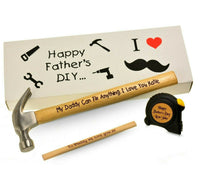 Fathers day present Daddy gift Birthday for Him dad Personalised grandad hammer
