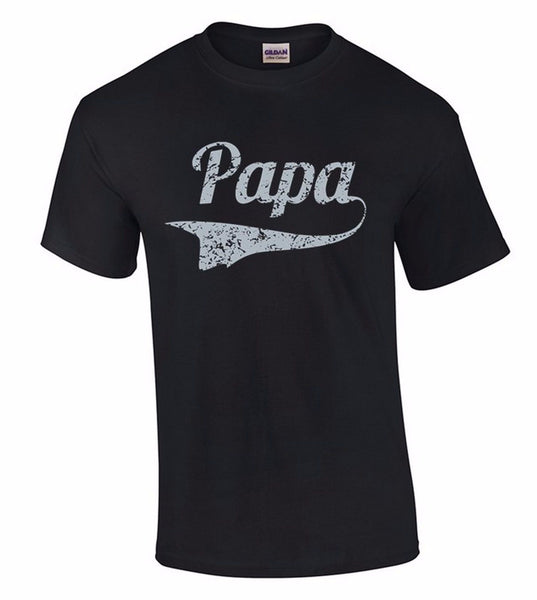 Papa Grey T-SHIRT Father's Day Dad Daddy Father's Day Tee Birthday Gift for Him