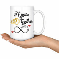 57th Wedding Anniversary Gift For Him And Her Married For 57 Years