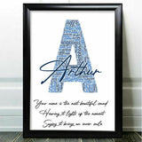 Birthday Personalised Gifts For Him Uncle Dad Friend Word Art Initial Any Letter