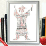 GRADUATION GIFT PRESENT WORD ART CLOUD FOR HIM GIFT PRESENT POSTER PRINT