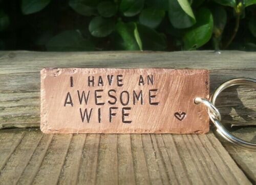 AWESOME Valentines Day Gifts For Him Men Keyring Copper Funny Husband Hubby Love