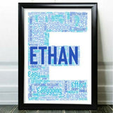 Personalised Birthday Gifts Initial Word Art For Him Boy Son Any Letter C Gift