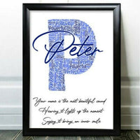 Birthday Gifts Any Letter Personalised Word Art For Him Dad Initial Print P Gift