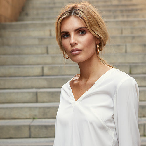 The new silk blouse