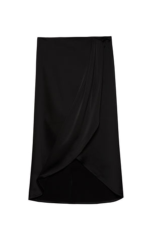 Dora Satin Draped Skirt