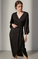Mira Satin Wrap Dress