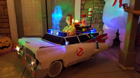 Jeremy Miller in Ghostbuster costume