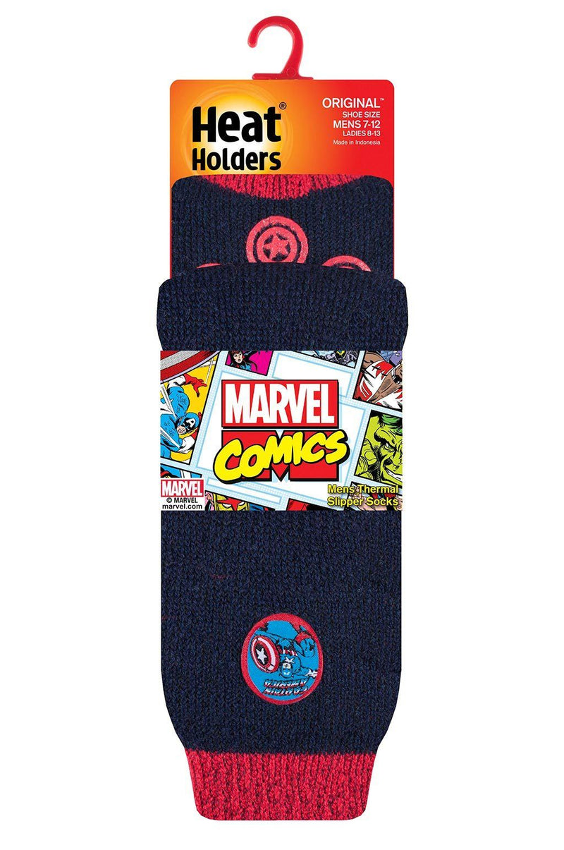 Men's Captain America Slipper Socks Packaging