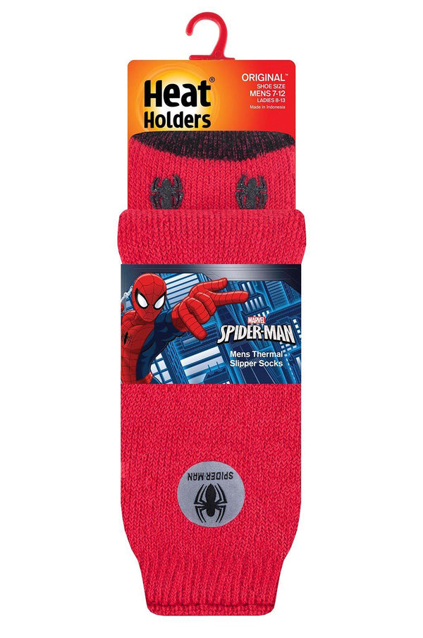 Men's Spider-Man Slipper Socks Packaging