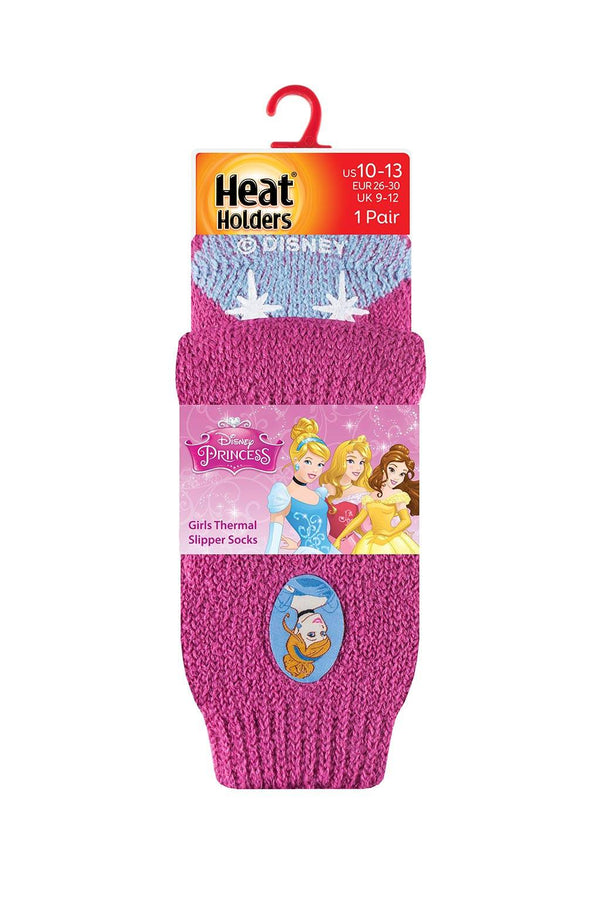Kids Disney Princess Slipper Socks Packaging