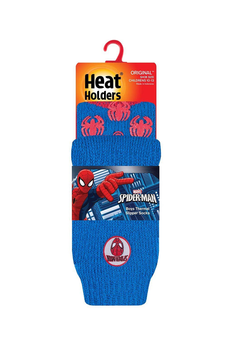 Kids Blue Spider-Man Slipper Socks Packaging