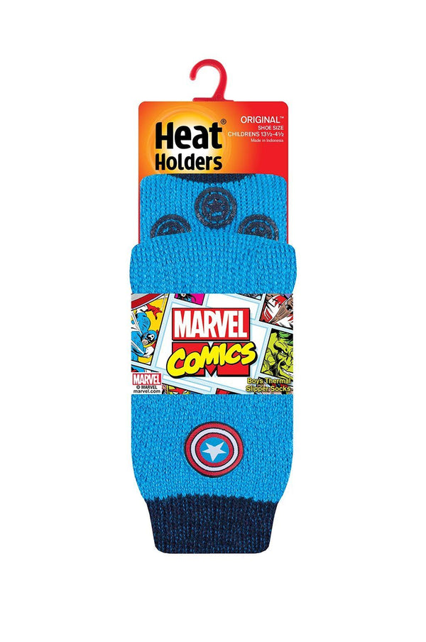 Kids Captain America Slipper Socks Packaging