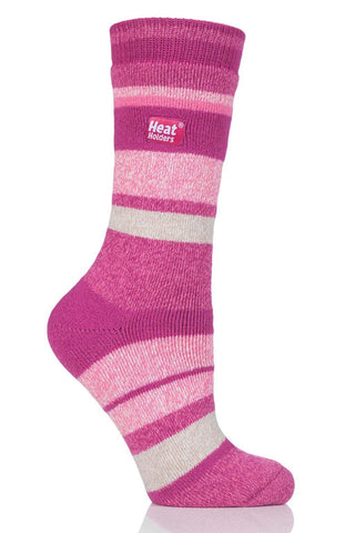 Ladies Jacquard Stripe LITE socks - Pink