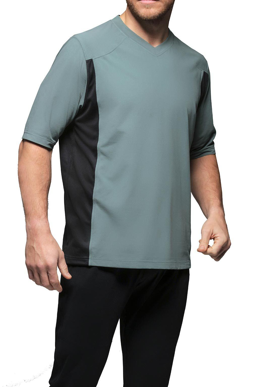 Men's High V-Neck T-Shirt Loungewear - Graphite