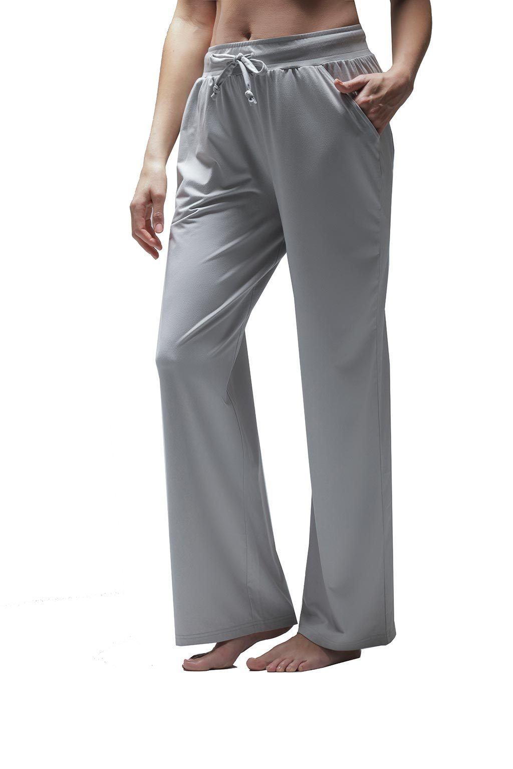 Women's Wide-Leg Pull On Pant - Silver Heather