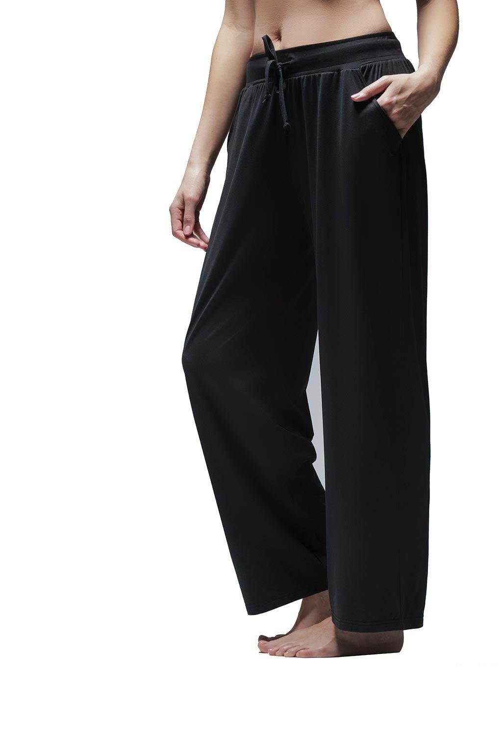 Women's Wide-Leg Pull On Pant - Black