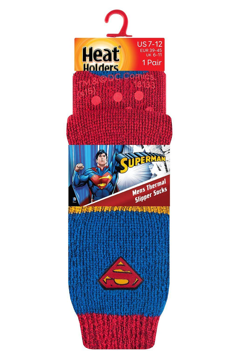 Men's Superman Slipper Socks Packaging